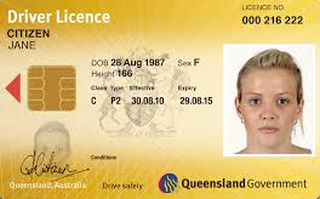 Australian Queensland Driving Licence Photo