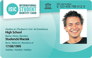 ISIC card photo