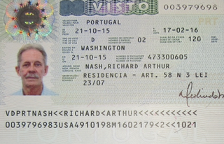 Visa to Portugal 30x40 mm (0,3x0,4 cm)