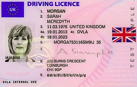 UK Driving Licence Photo
